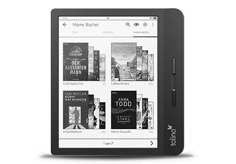 tolino vision 5: Bis zu 6.000 eBooks intern speichern